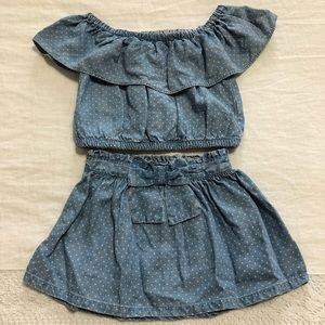 Genuine Kids by Oshkosh - Denim Pokadot Outfit